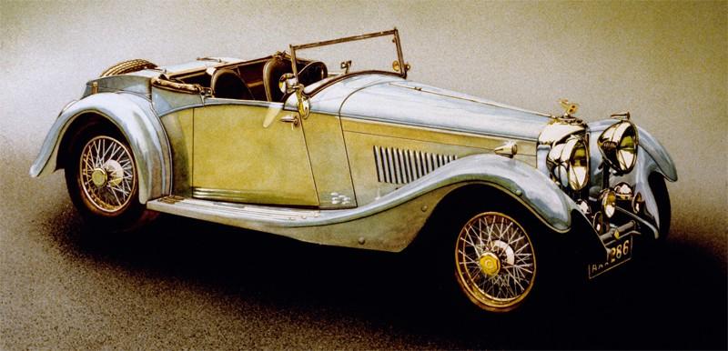 Bentley 8 litres, modèle fabriqué à 100 exemplaires en 1930